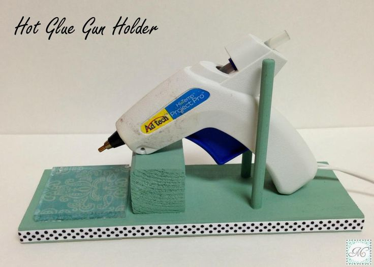 DIY Hot Glue Gun Holder!! I want this bad!