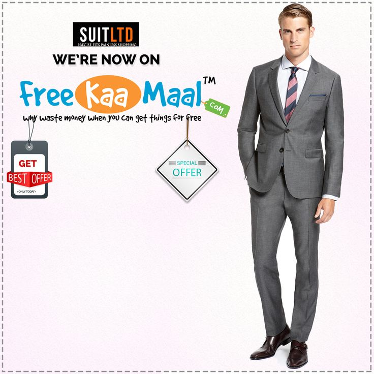 Looking for interesting offers and coupons? We're now on freekaamaal! Visit http://freekaamaal.com/ for exciting new offers. Don't forget to visit www.suitlimited.com for men's suits,blazers,trousers,nehru jackets and waistcoats.