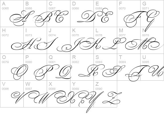 fancy calligraphy | Bickham Script Two details - Free Fonts at FontZone.net