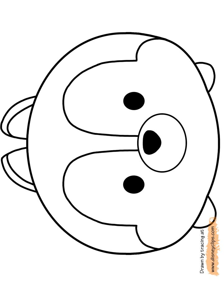 printable coloring pages of disneys chip and dale mike wazowski sulley dumbo alice and anna from frozen - Coloring Pages Com 2