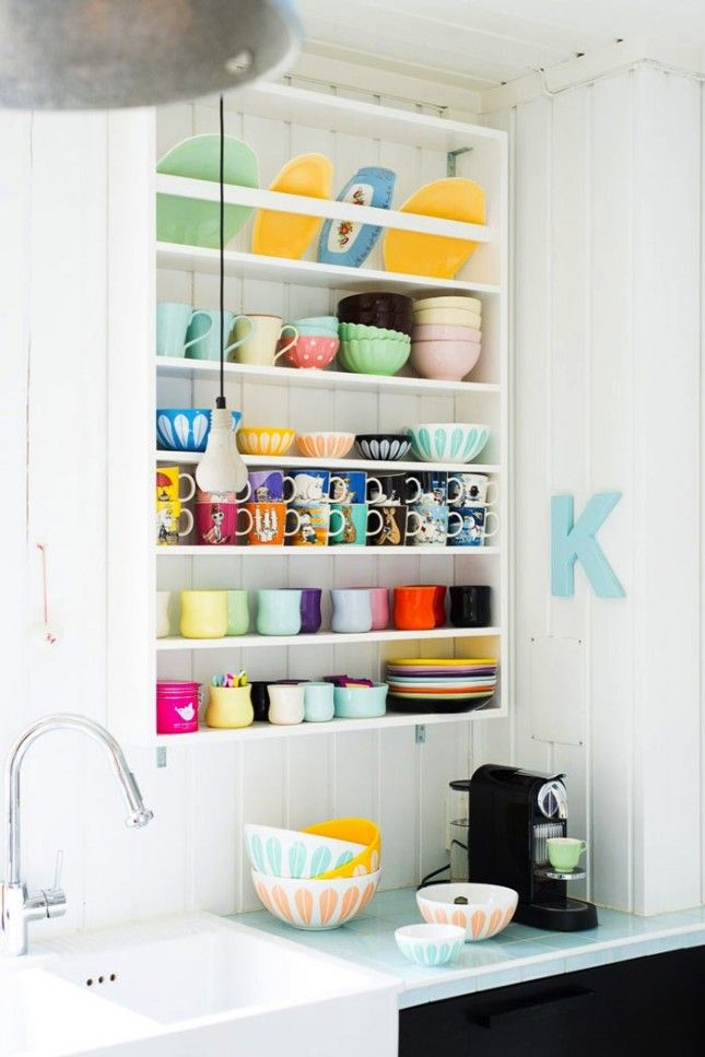 Even if your dishes don't match, organizing them is a must.