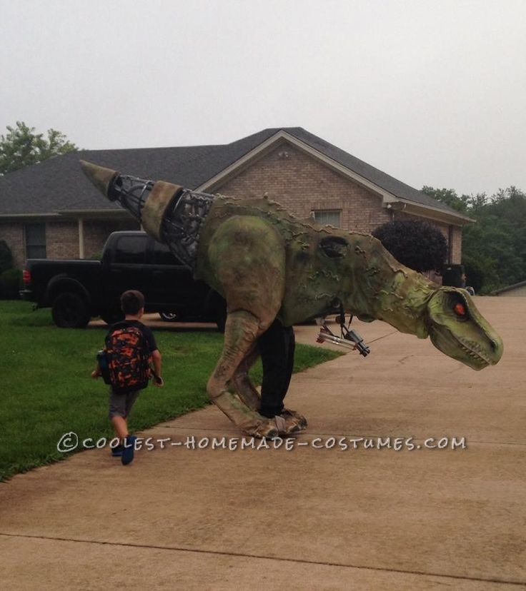 Epic DIY Cyborg T-Rex Costume... Coolest Homemade Costumes