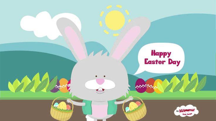 "It's ""Here Comes Peter Cottontail!""  Enjoy this well-known Easter song with the kids!  #eastersongs"