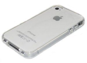 Crystal clear silicon TPU soft full Case For iPhone 4/4S
