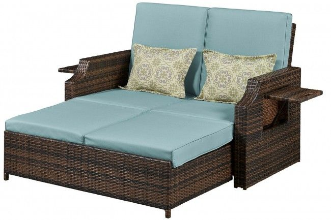 Outdoor Futon Loveseat Sofa Bed Bermuda | The Futon Shop