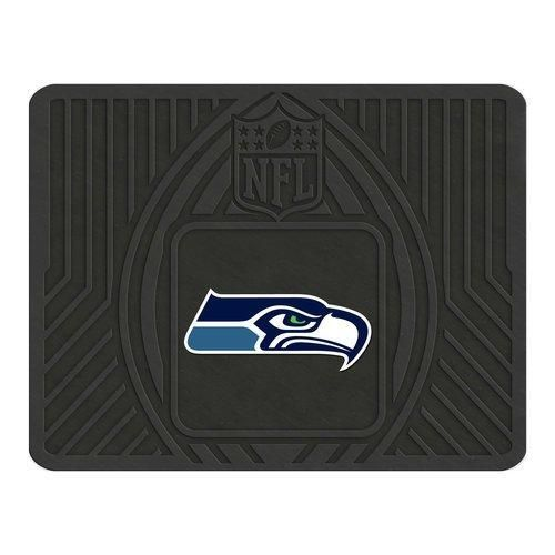 14 X 17 Nfl Seahawks Utility Mat Printed Logo Football Themed Car Floor Carpet Sports Patterned Team Fan Merchandise Athletic Team Spirit Black Navy Green Blue Vinyl