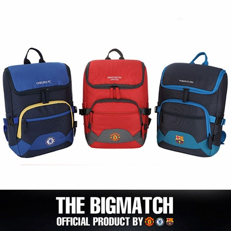 Manchester United Chelsea FC Barcelona Official backpack sport EPL bag BP5S08 #Eon #Backpack