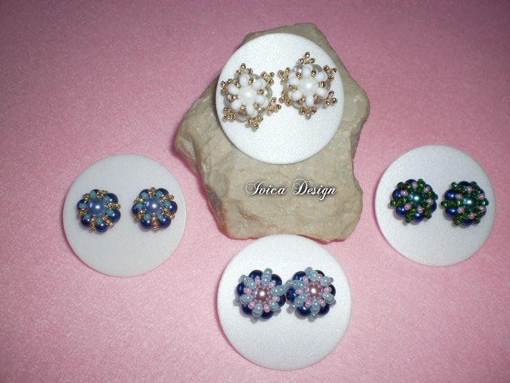 Erina bead earring's Pattern: Kovács Ewa Follow me on my Facebook page:https://www.facebook.com/IvicaDesign/ Buy my jewellrys on:  https://porteka.com/hu/ivica