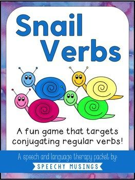 A freebie to work on regular verbs - targets past tense, present tense, and future tense. Great and easy speech and language therapy activity! From Speechy Musings.