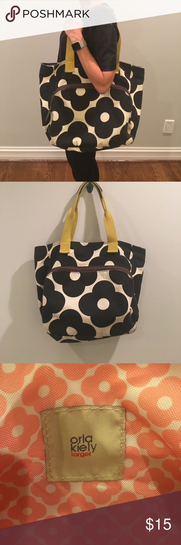 Orla Kelly for Target yoga bag Durable bag with front pocket perfect to slip a yoga mat in. I used this as a diaper bag and it worked great! Orla Kiely Bags Totes