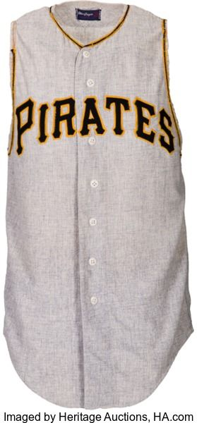 Baseball Collectibles:Uniforms, 1960 Roberto Clemente Game Worn Pittsburgh Pirates Jersey....