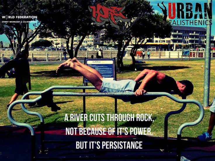 Monday Motivation. We love this quote. So keep working and your persistence with pay off. Tag and share the motivation. #fitness #outdoors #capetown #urbanmotivation #urbancal #wswcf #kore #streetworkout #calsithenics