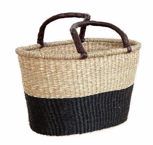 Markttasche Einkaufskorb Affari of Sweden schwarz/natur skandinavisch Seegras in Kleidung & Accessoires, Damentaschen | eBay