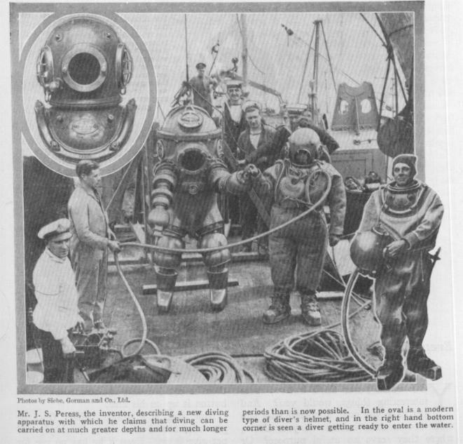 Vintage deepsea diving helmet & gear What Happened