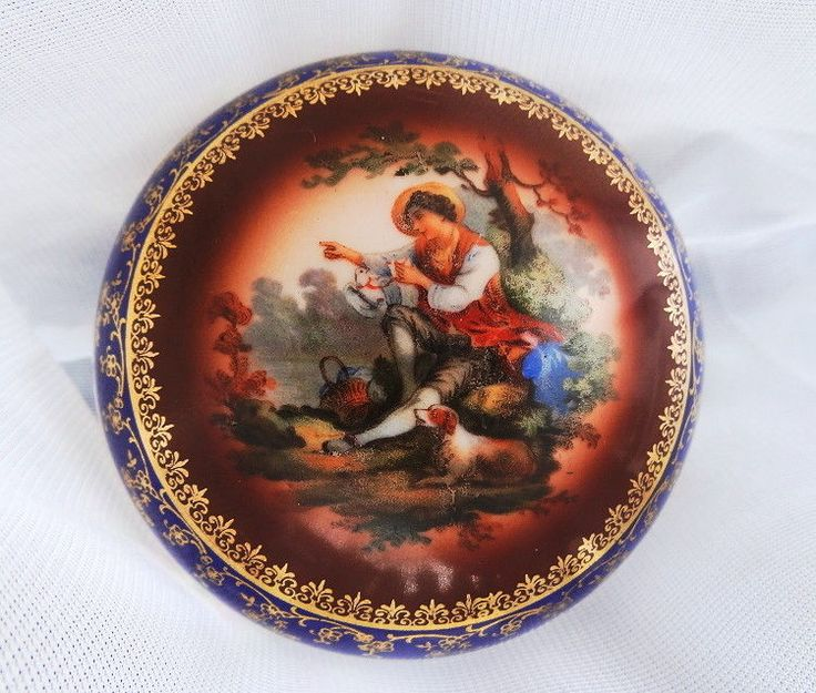 Antique  ZSOLNAY Jewel Box with Mythological Scene (cca.1910) in 24K gold (RARE)