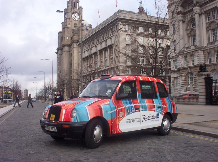 Full Livery Taxi Advertising for Radisson Hotels