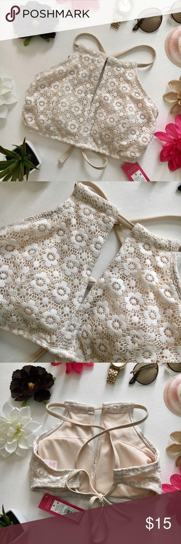 Xhilaration Cream Bikini Top New with tags! Very cute with some cream colored bottoms! Xhilaration Swim Bikinis