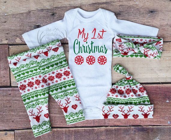 Baby Girl Christmas OutfitMy 1st Christmas by TheSouthernCloset101