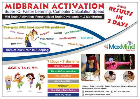 Midbrain Activation makes child Genius, super Genius, Extremely Intelligent, Smart, Intuitive, Imaginative, Mystical, sensing, read and activities blindfold.
