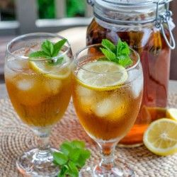 Iced Tea with Lemon and Mint