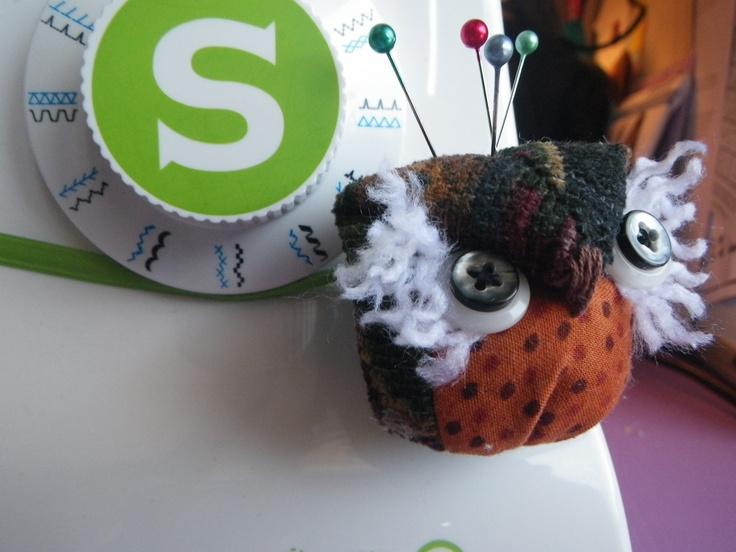 Owl Pincushion. $8.00, via Etsy.