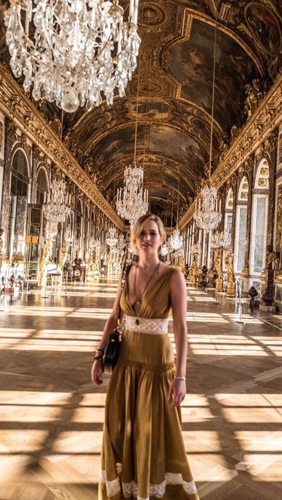 Jennifer Lawrence at the Palace of Versailles in Paris