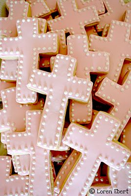 Pink Easter Cross Cookies