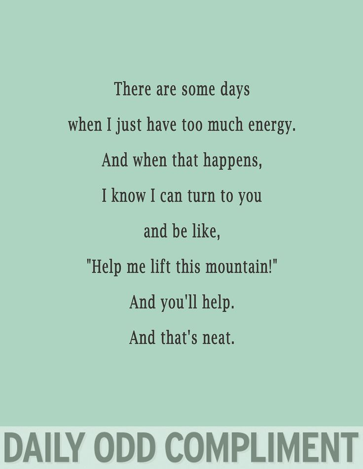 Daily Odd Compliment: Mountain Lift