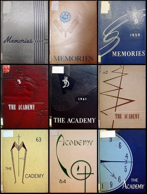 Academy of Notre Dame yearbooks 1957-1965   Belleville, IL