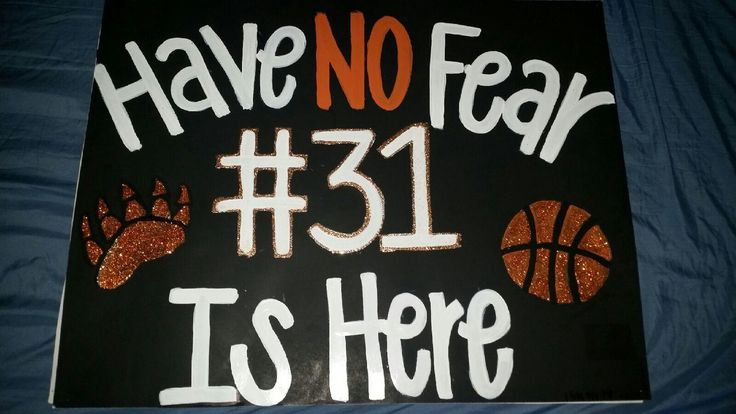Basketball or football poster ideas senior night