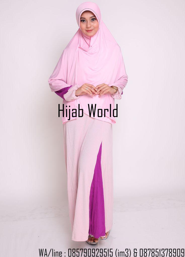 jilbab syar'i spandek permata pink  sms/wa 0821.4284.5152