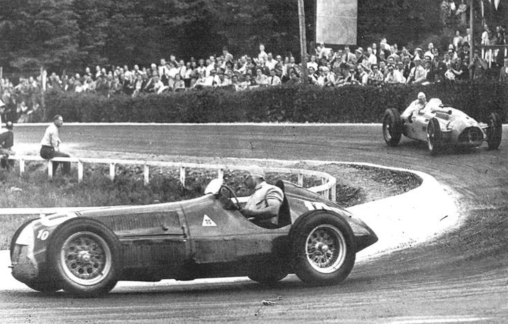 #6 Raymond Sommer (Fra) - Talbot Lago T26C  (Talbot 6) engine (5) Privateer #10 Juan Manuel Fangio (Arg) - Alfa Romeo 158 (Alfa Romeo 8S) 1 (2) Alfa Corse / SA Alfa Romeo