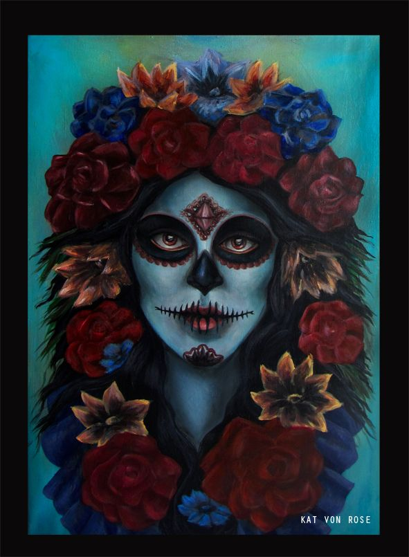 http://kat-von-rose.blogspot.com/2013/10/halloween.html  #kat von rose #paintings #blog #halloween