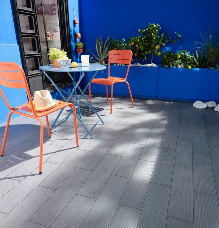 Le carrelage lamco gris habille le sol de votre terrasse for Machine pour enlever le carrelage au sol