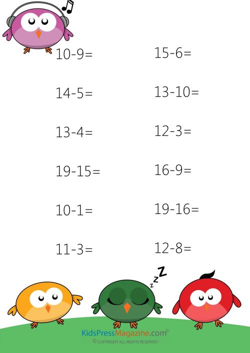 Counting Number worksheets : subtraction practice worksheets 2nd ...