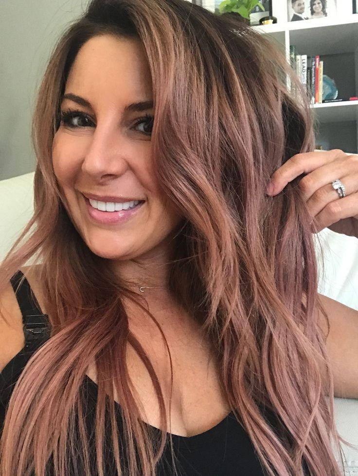 Pastel Pink On Balayage Blonde Making Rose Gold Hair Color