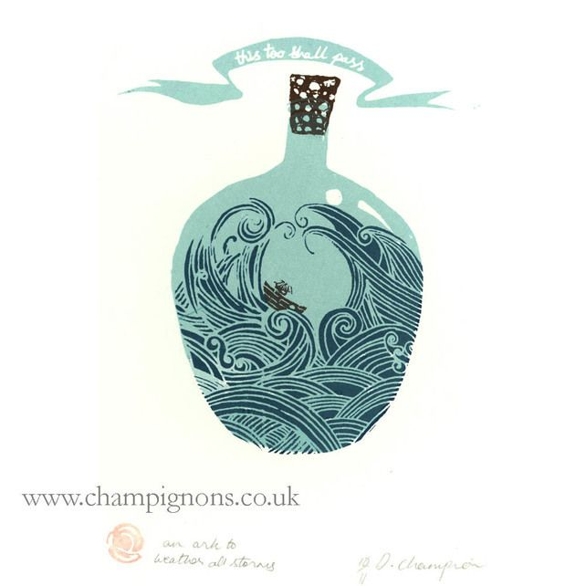 An ark to weather all storms. Limited edition screenprint. £12.00