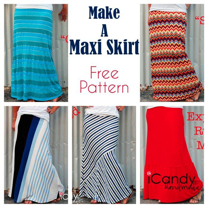 Free Maxi Skirt Pattern! Several Variations.