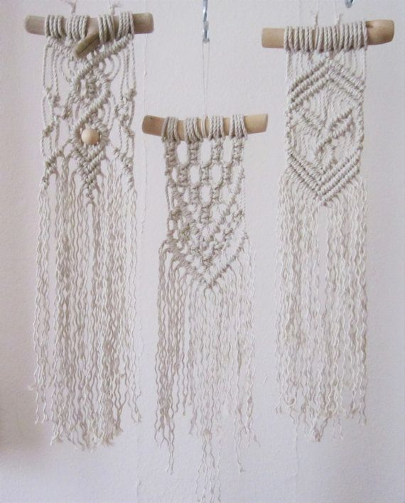 Macrame colgante de pared Mini Driftwood por craft2joy en Etsy