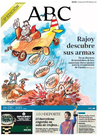 Portada de ABC previa a la investidura de Rajoy