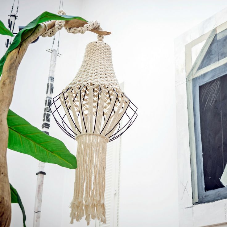 Macrame chandelier by TEX MB