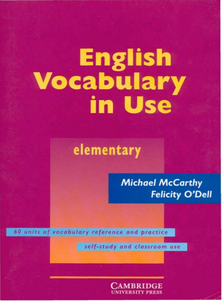 Cambridge english vocabulary in use - elementary