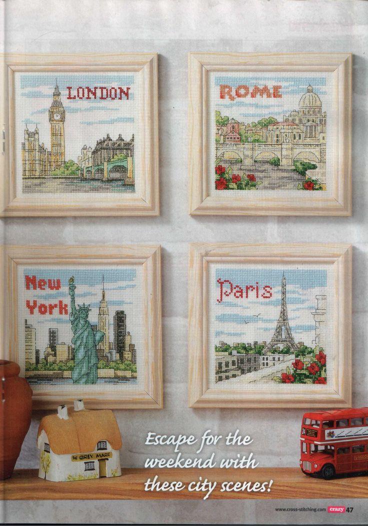 London, Rome, New York & Paris Scenes Picture