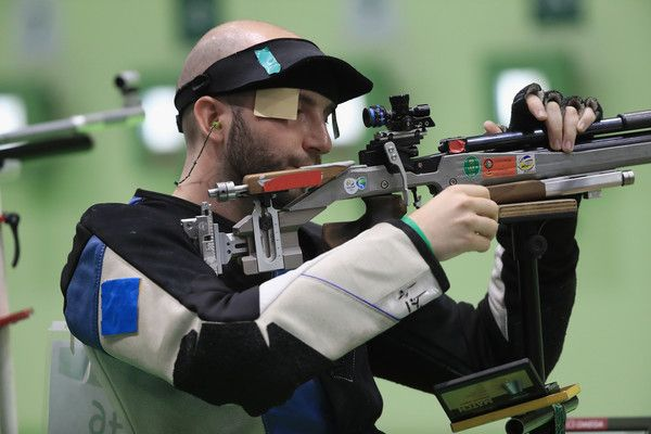 Niccolo Campriani Photos Photos - Niccolo Campriani of Italy competes in the qualifying event for the 10m Air Rifle match on Day 3 of the Rio 2016 Olympic Games at the Olympic Shooting Centre on August 8, 2016 in Rio de Janeiro, Brazil. - Shooting - Olympics: Day 3