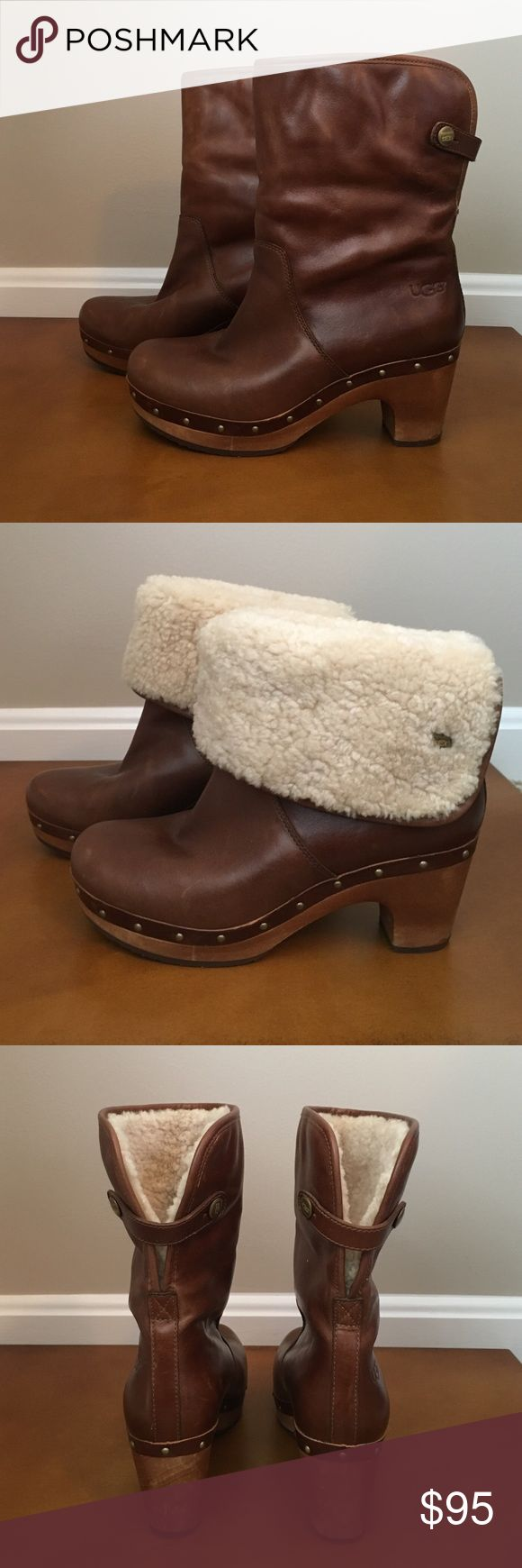 UGG Lynnea studded ankle boots. Size 6. Authentic UGG Lynnea studded ankle boots. Size 6. Excellent used condition- worn once. Boots can be folded down or worn up. Perfect fall/winter boots! UGG Shoes Ankle Boots & Booties