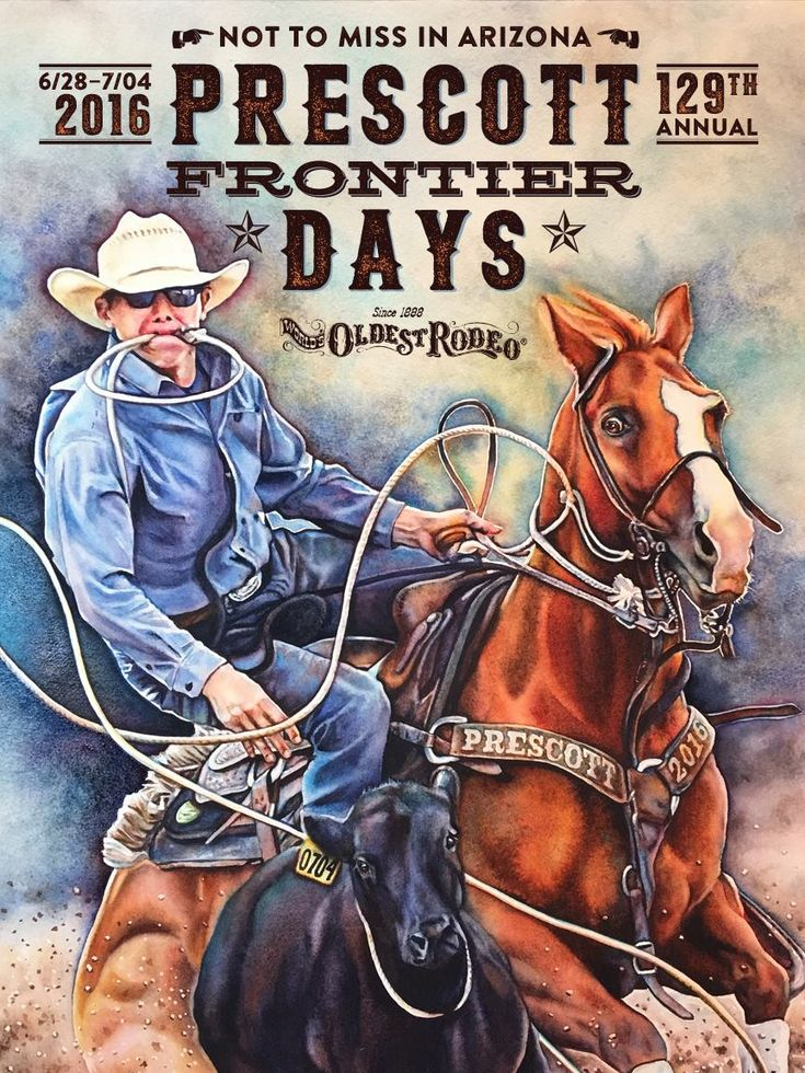 2016 Prescott Rodeo Official Poster
