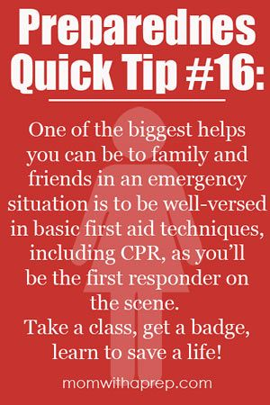 You are the first responder! Learn to save a life!  |  Mom with a Prep