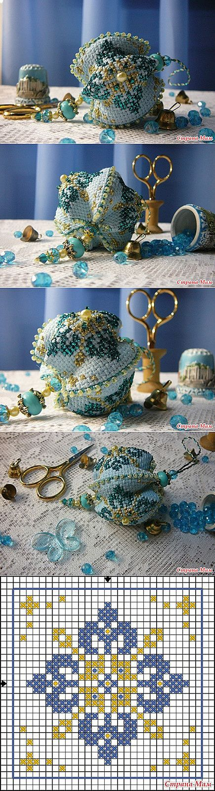 épinglé par ❃❀CM❁✿Joli biscornu perlé More