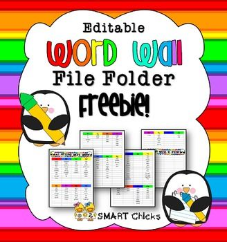 FREEBIE! This handy personal word wall can help your class spell like pros throughout the school dayno matter what the subject! If your students are stuck when spelling a word, have them attempt it first on their own and then they can bring their word wall to you for assistance.Do you notice some of your kiddos misspell the same words over and over again?