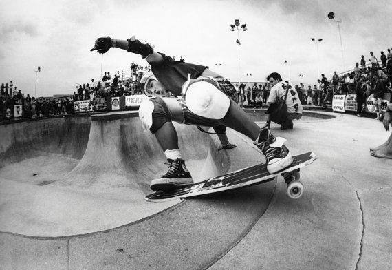 Christian Hosoi 80s Skateboarding Photo - J Grant Brittain Skate Photo - Skateboarding Photography Print